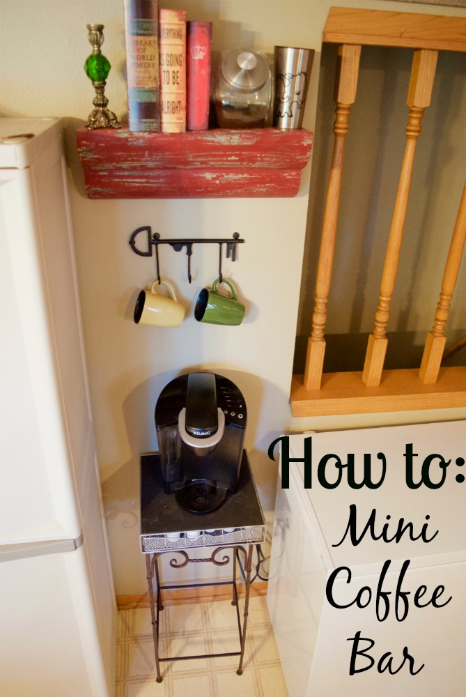How to: Mini Coffee Bar for Tiny Small Spaces