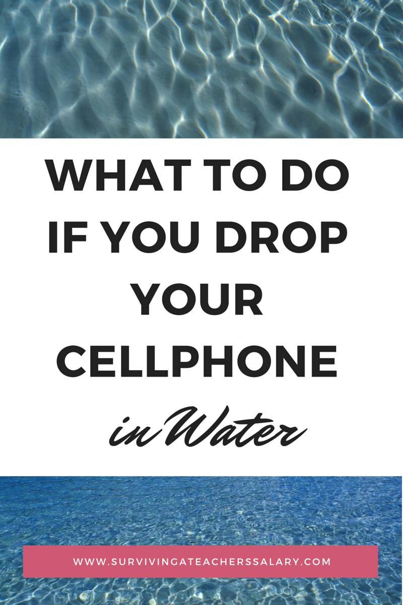 What to do if you Drop your Cellphone in Water
