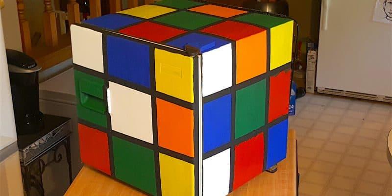 DIY Rubik's Cube Fridge for Math Geeks Tutorial