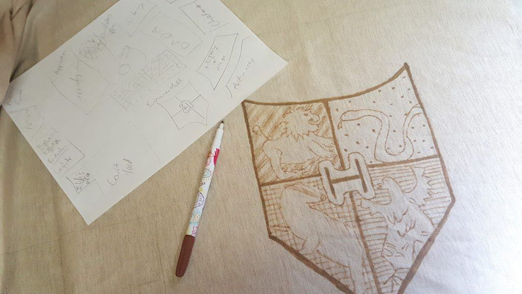 DIY Harry Potter Marauder's Map Christmas Tree Skirt Tutorial