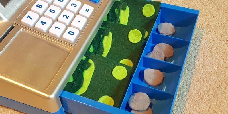 DIY No Sew Felt Money Toddler Math Play Tutorial