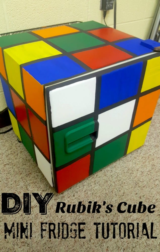 DIY Rubik's Cube Fridge for Math Geeks Tutorial