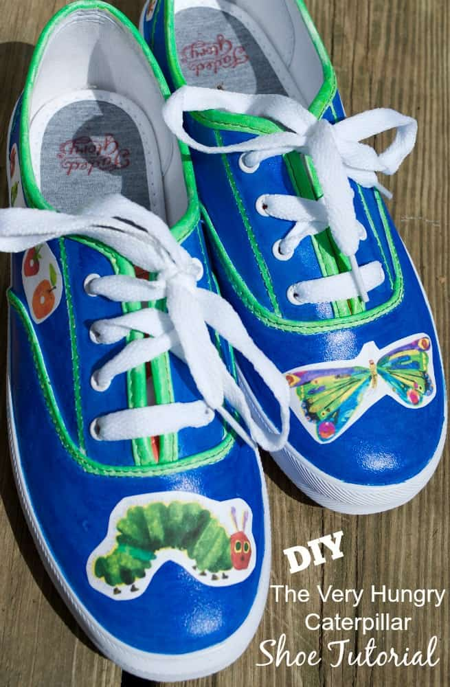 DIY The Very Hungry Caterpillar Shoes Children's Book Fashion Tutorial