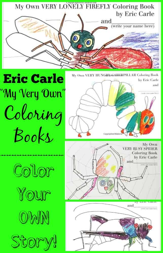 Eric Carle My Very Own Coloring Books Color Your Own Story