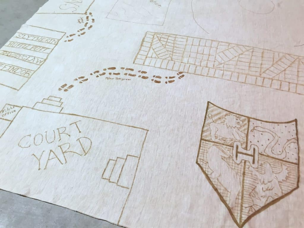 DIY Marauder's Map Christmas Tree Skirt Harry Potter