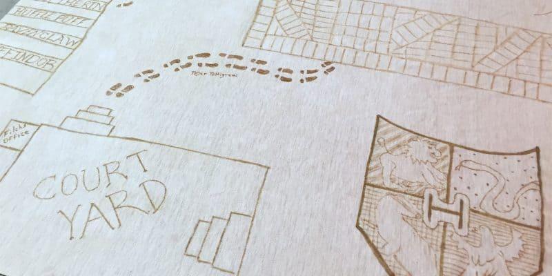 DIY Harry Potter Marauder's Map Christmas Tree Skirt Tutorial