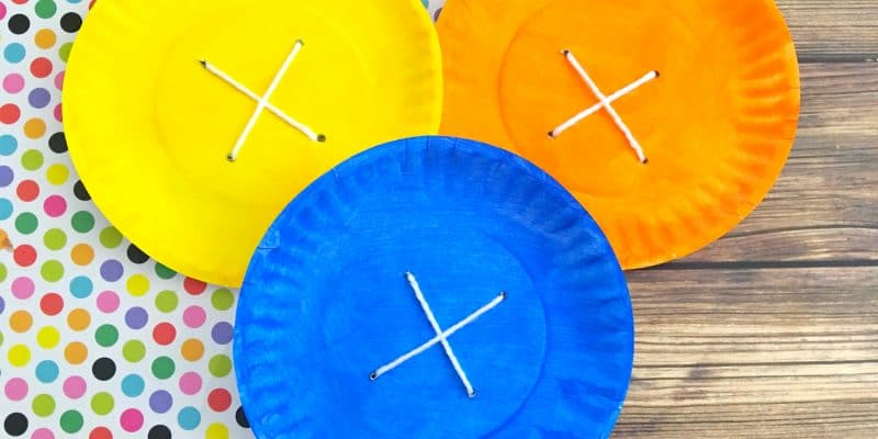 Pete the Cat Button Paper Plate Craft