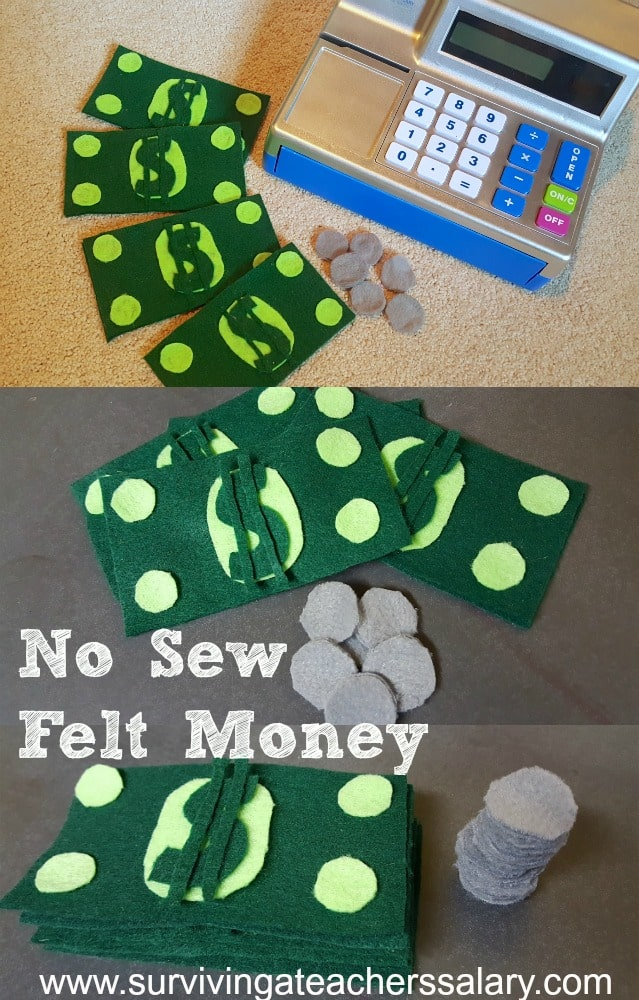 No Sew Felt Pretend Play Money