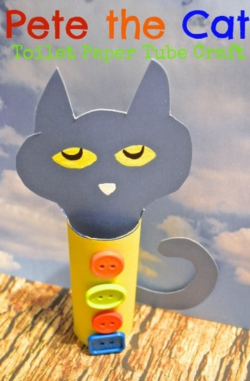 Pete the Cat Toilet Paper Tube Craft
