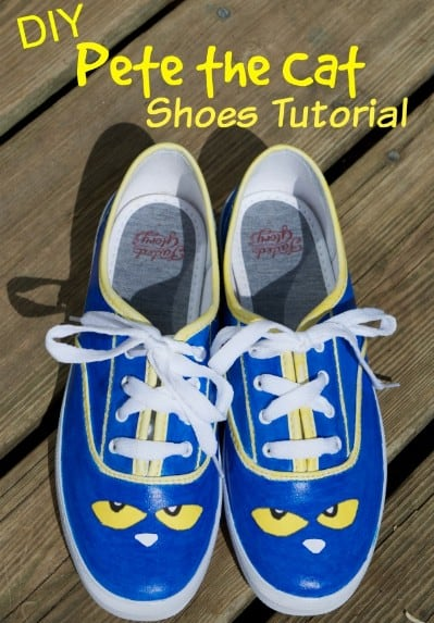 DIY Pete the Cat Shoes Tutorial