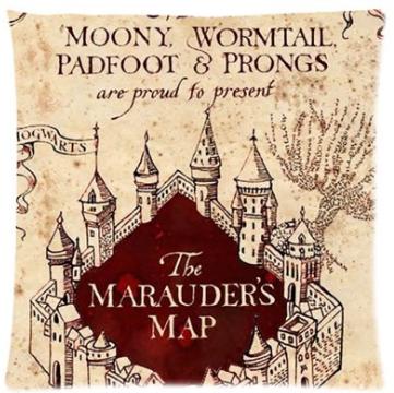 Harry Potter Marauder's Map Pillow