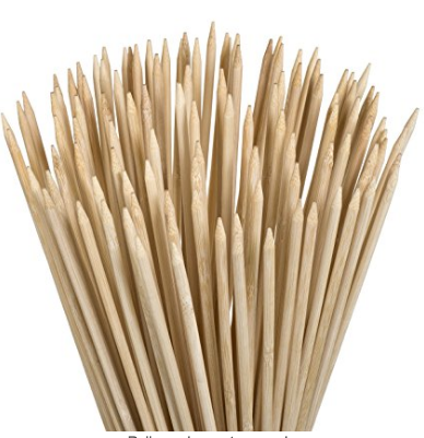 wooden bbq bamboo skewers
