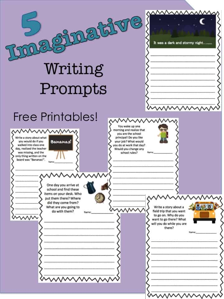 5 Free Imaginative Writing Prompt Story Printables