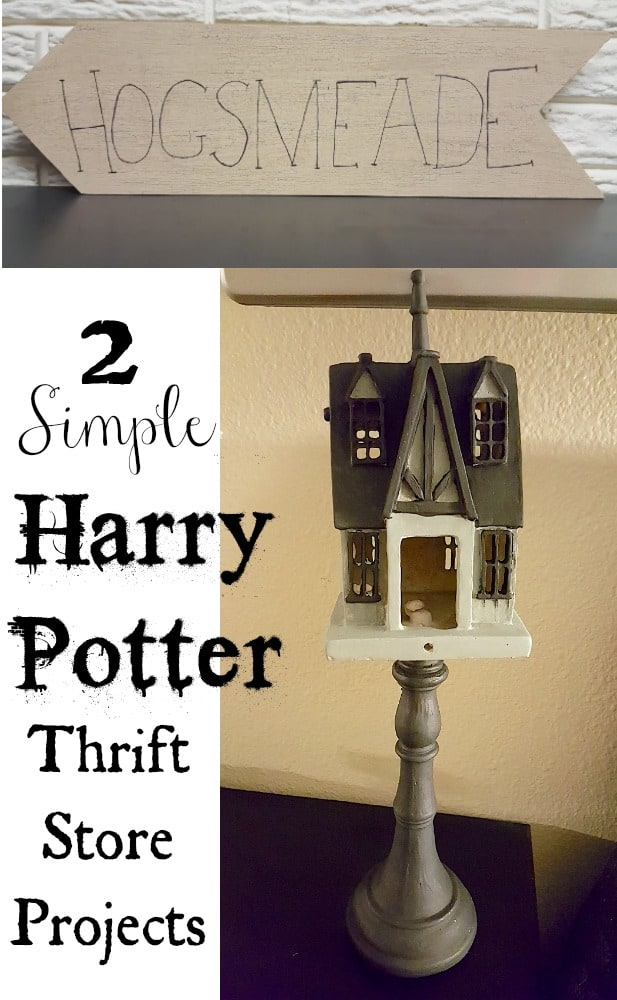 2 Simple Harry Potter Hogsmeade Thrift Store Recycled Projects