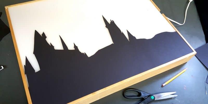 Harry Potter Silhouette Lightbox Design Idea