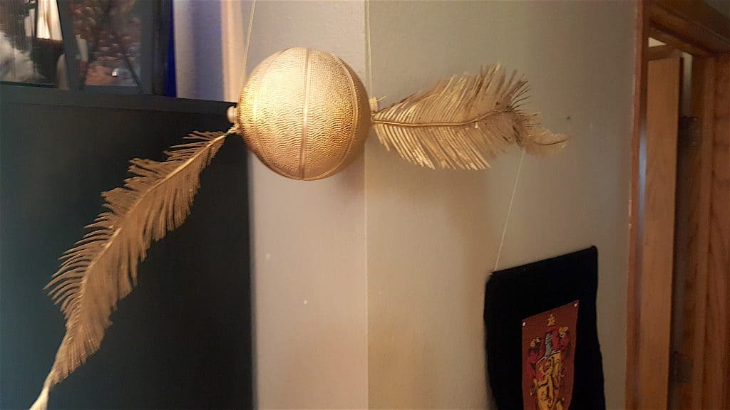 DIY Golden Snitch Harry Potter Quidditch