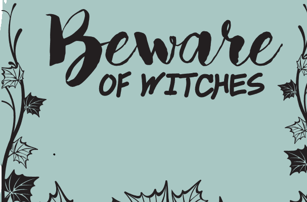 Halloween Wall Art - Beware of Witches