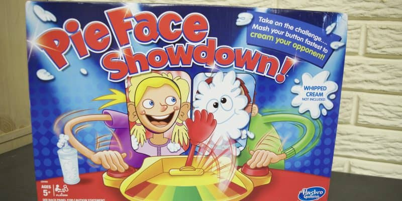 PieFace Showdown game for families
