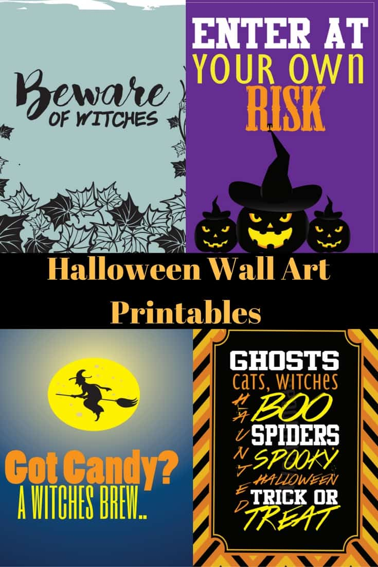 Halloween Wall Art Printables
