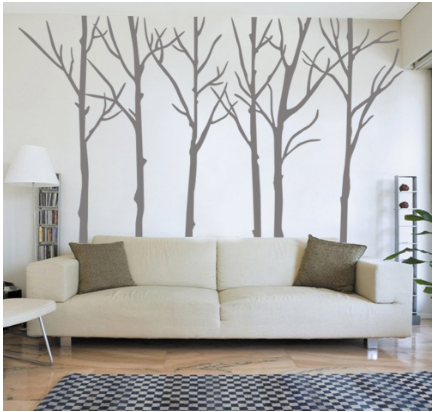 Harry Potter inspired birch trees wall decals