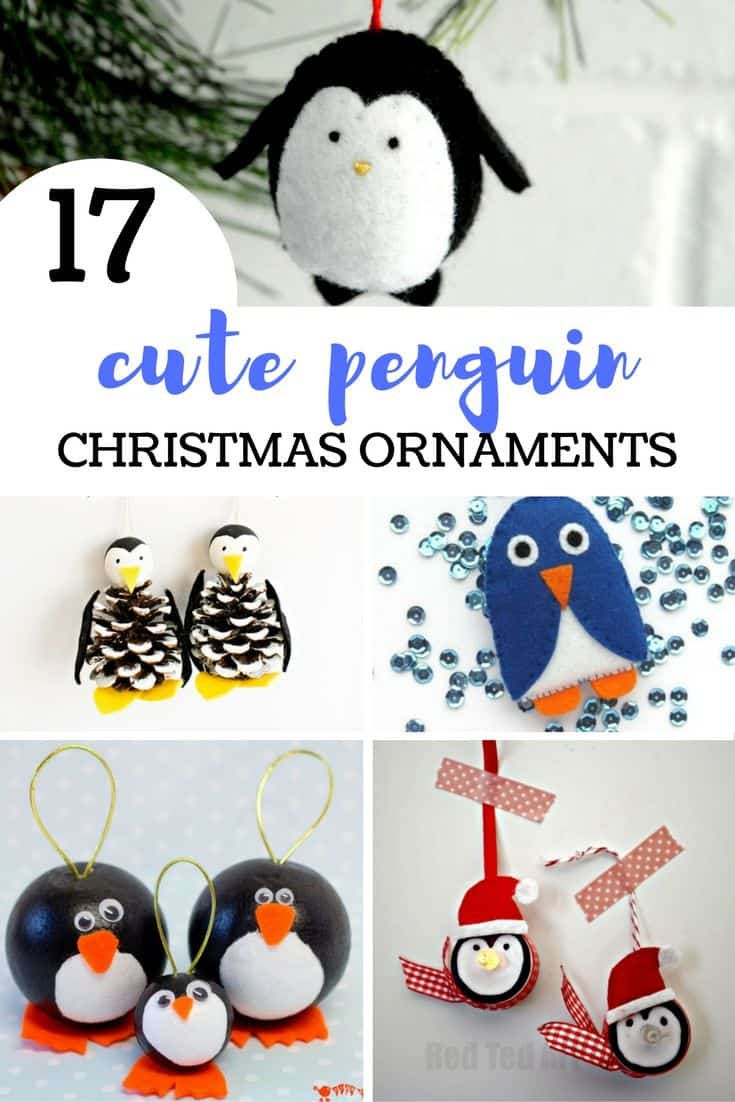 17 Cute Penguin Christmas Ornaments