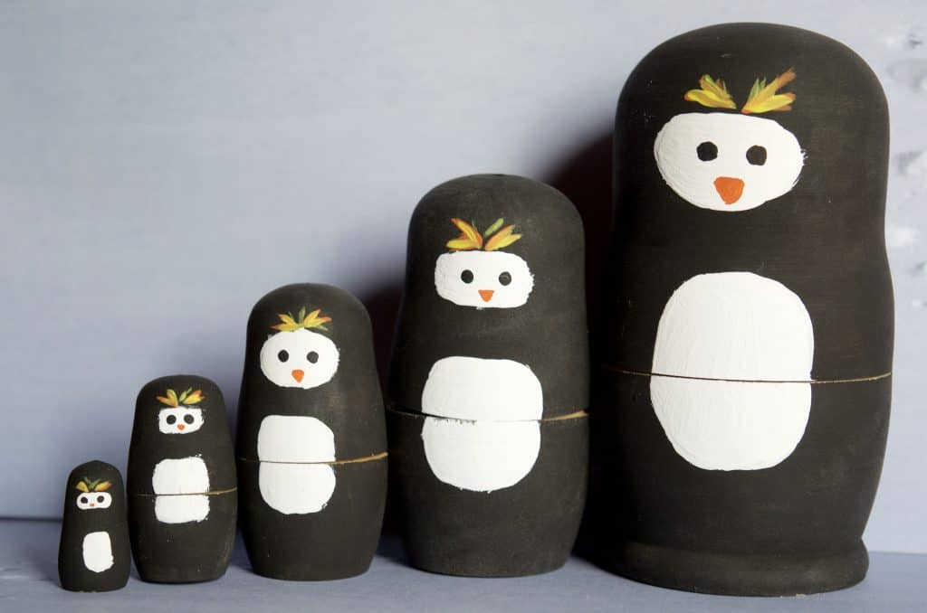 Penguins Nesting Doll Craft Tutorial