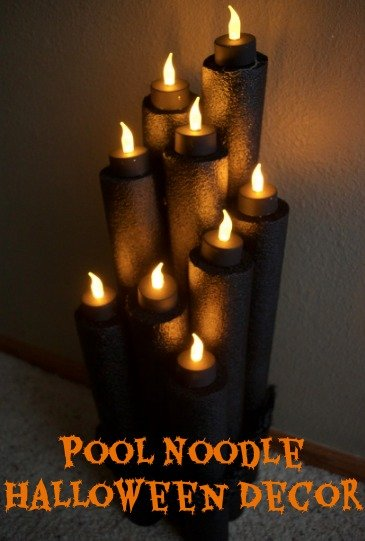 Recycled Pool Noodle Halloween & Harry Potter Decor Idea