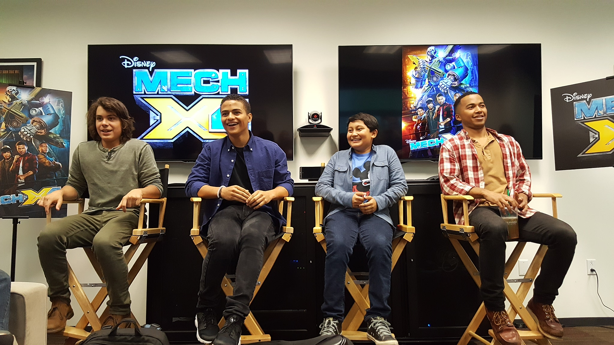 Cast of Disney Channel's MECH X-4 TV Series NATHANIEL POTVIN, KAMRAN LUCAS, PEARCE JOZA AND RAYMOND CHAM