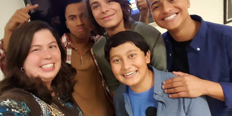 Cast of Disney Channel's MECH X-4 TV Series: Pearce Joza, Nathaniel Potvin, Kamran Lucas, Raymond Cham