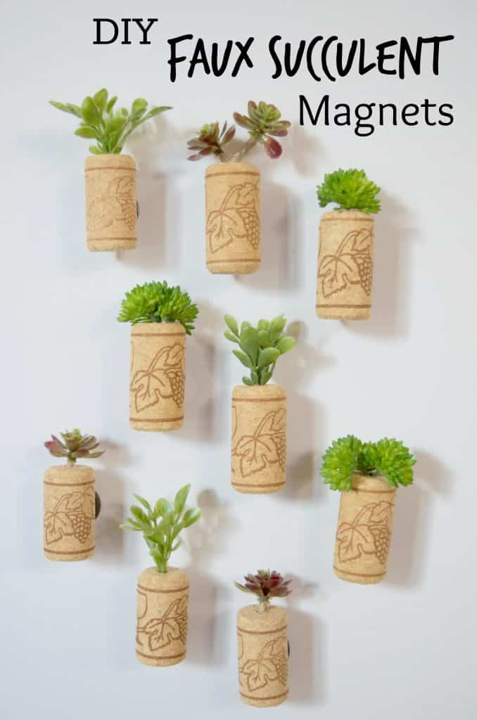 DIY Faux Succulent Magnets
