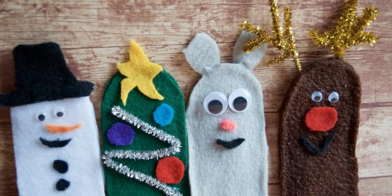DIY Christmas Felt Finger Puppet for Imaginative Play