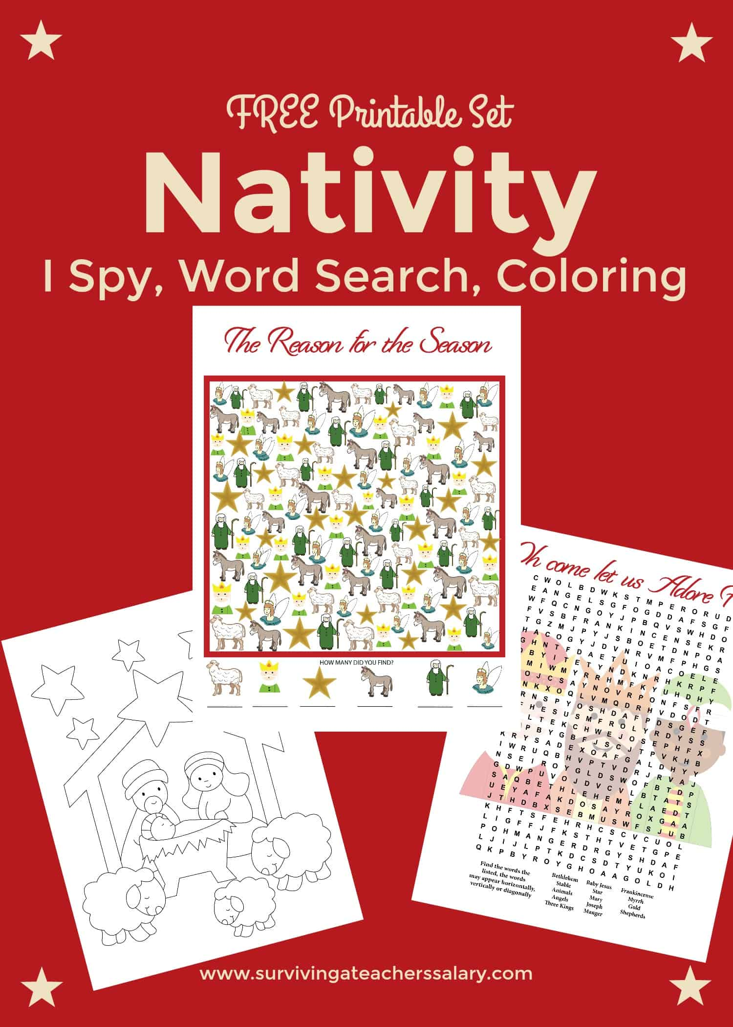 Free Nativity Printable Worksheets & Coloring Pages