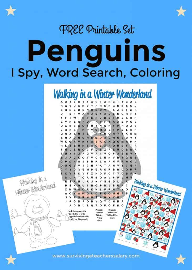 Free Printable Penguins Worksheets