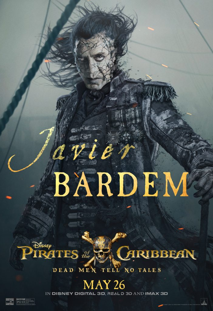 Javier Bardem PIrates of the Caribbean Poster