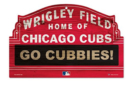 Wrigley Field Home of Chicago Cubs wooden sign home decor for man cave