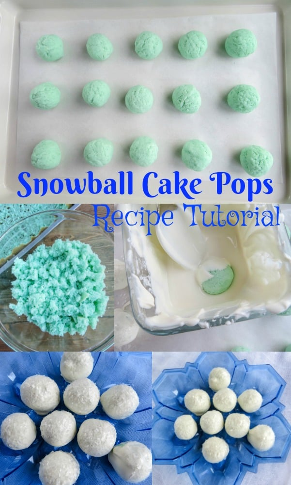 Winter snowball cake pops recipe tutorial - food for holiday parties
