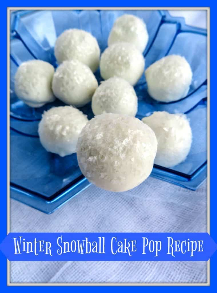 Winter Snowball Cake Pop Recipe