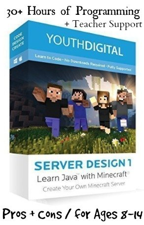 Youth Digital Minecraft Server Design Course for Kids Review