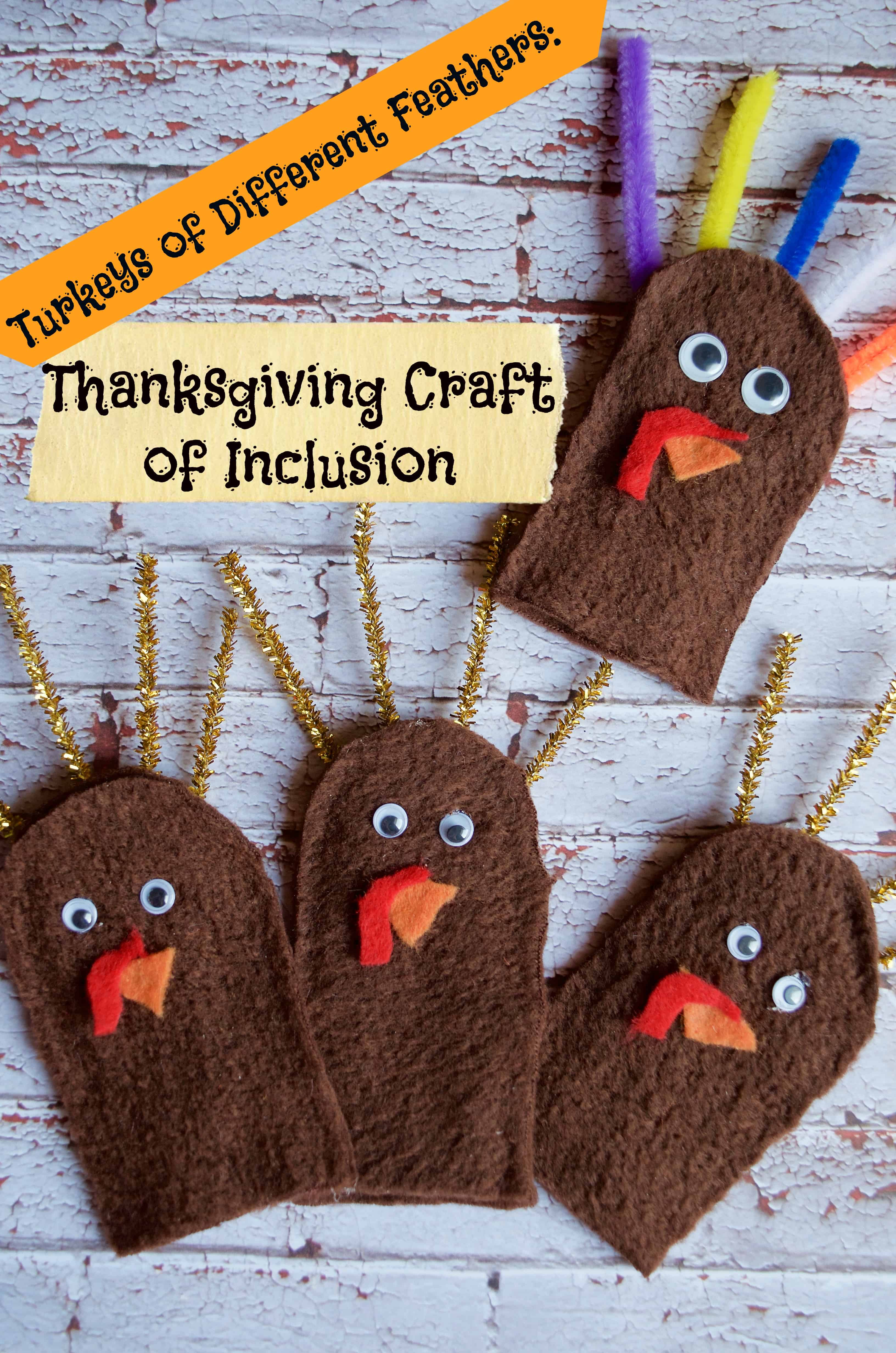 Thanksgiving Craft Part - 41: Turkeys Of Different Feathers: A Thanksgiving Craft Of Inclusion