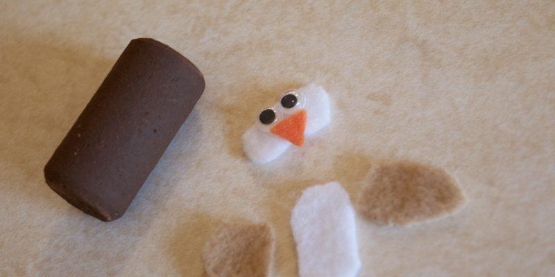 Make Your Own Snowman Wine Cork Winter Craft Tutorial