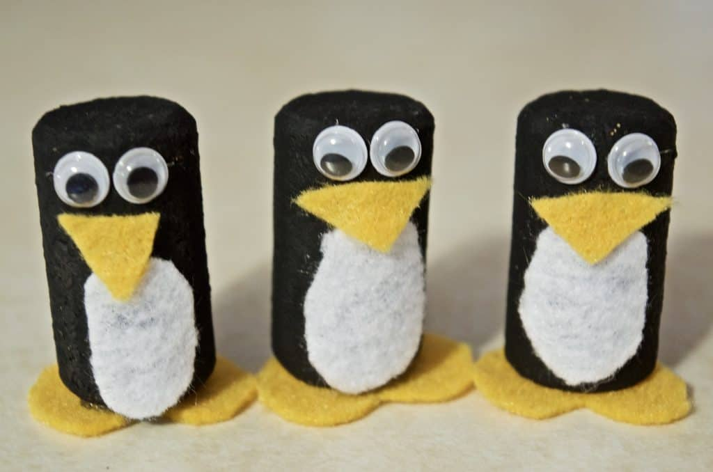 Make Your Own Winter Penguin Wine Cork Craft Tutorial