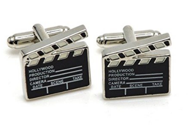 Hollywood Movie Clapboard Cufflinks gift for men