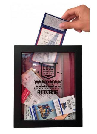 Movie Ticket Film Shadowbox for Memories Home Decor