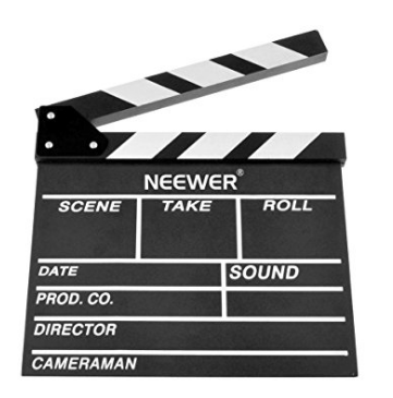 Hollywood movie clapboard prop decor