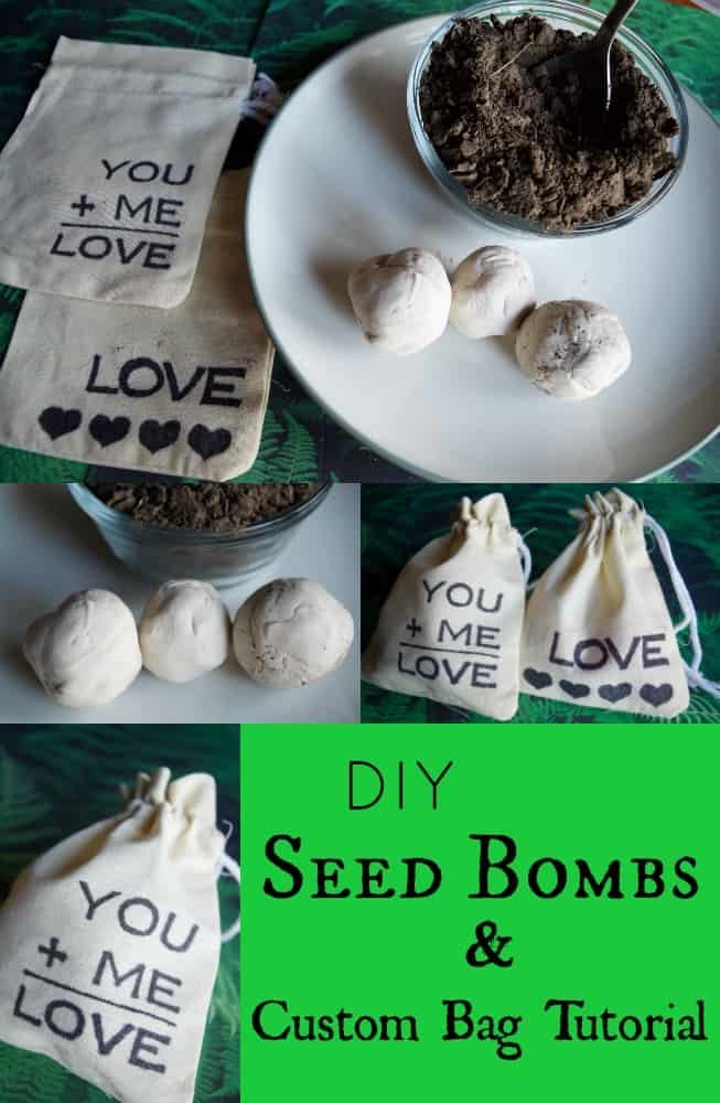 DIY Seed Bombs and Custom Gift Bag Tutorial
