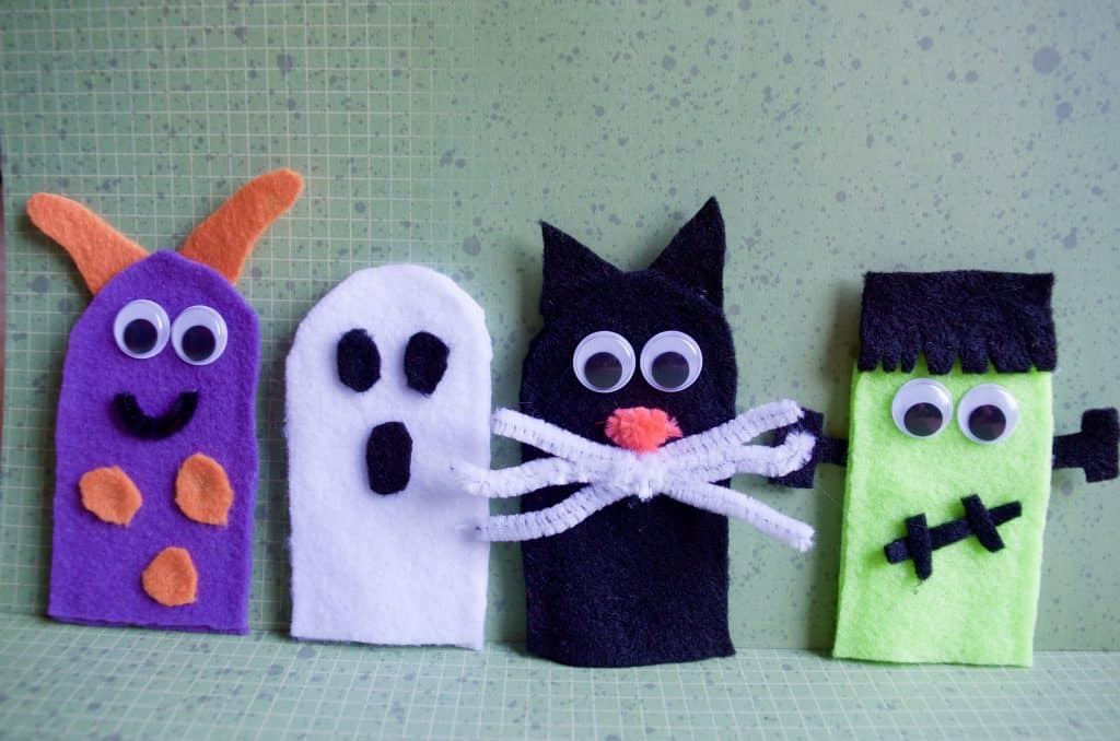 Not so Spooky Halloween No Sew Felt Finger Puppets Tutorial