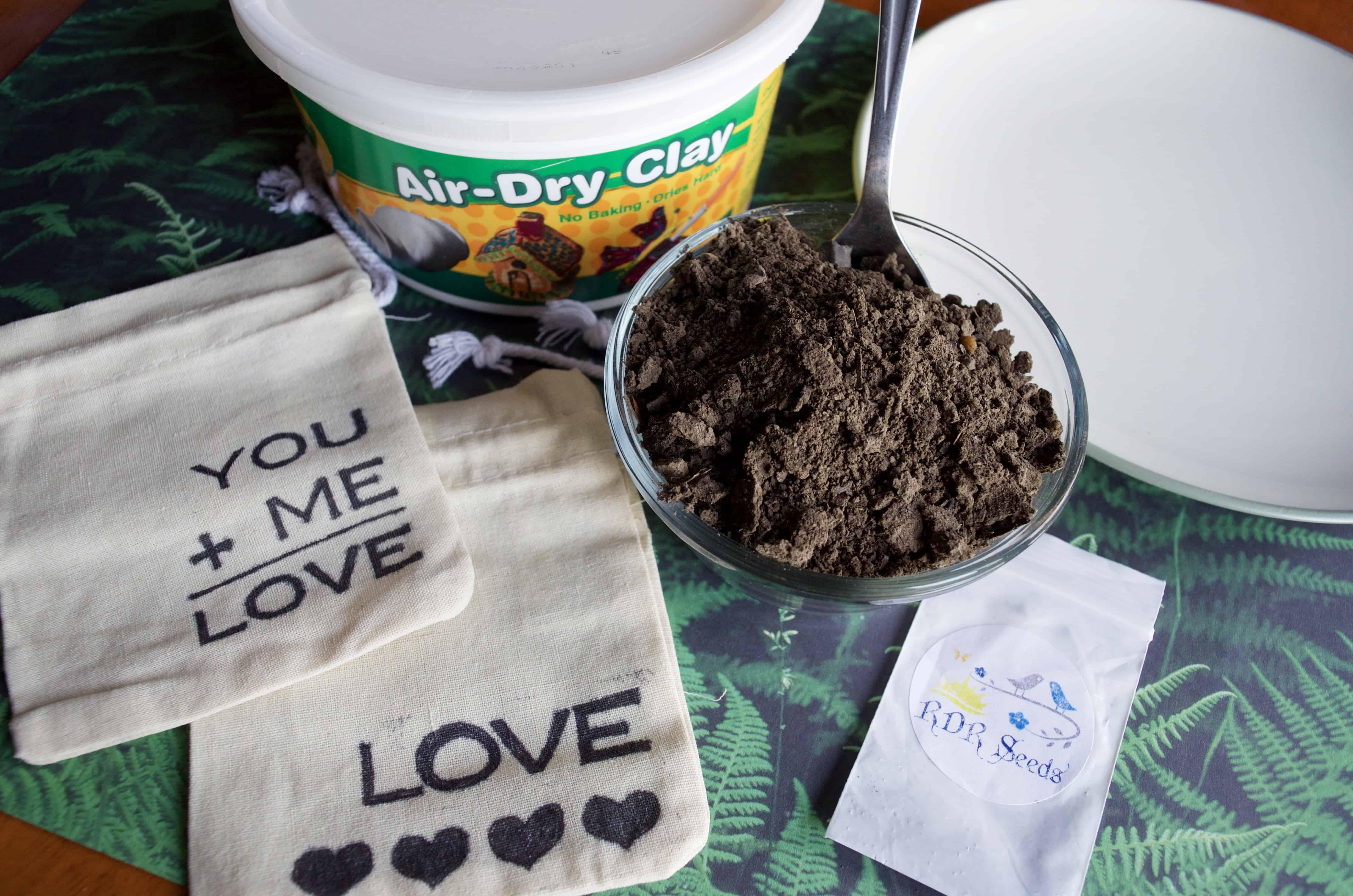 DIY Seed Bomb Garden Gift Idea with DIY Custom Bag