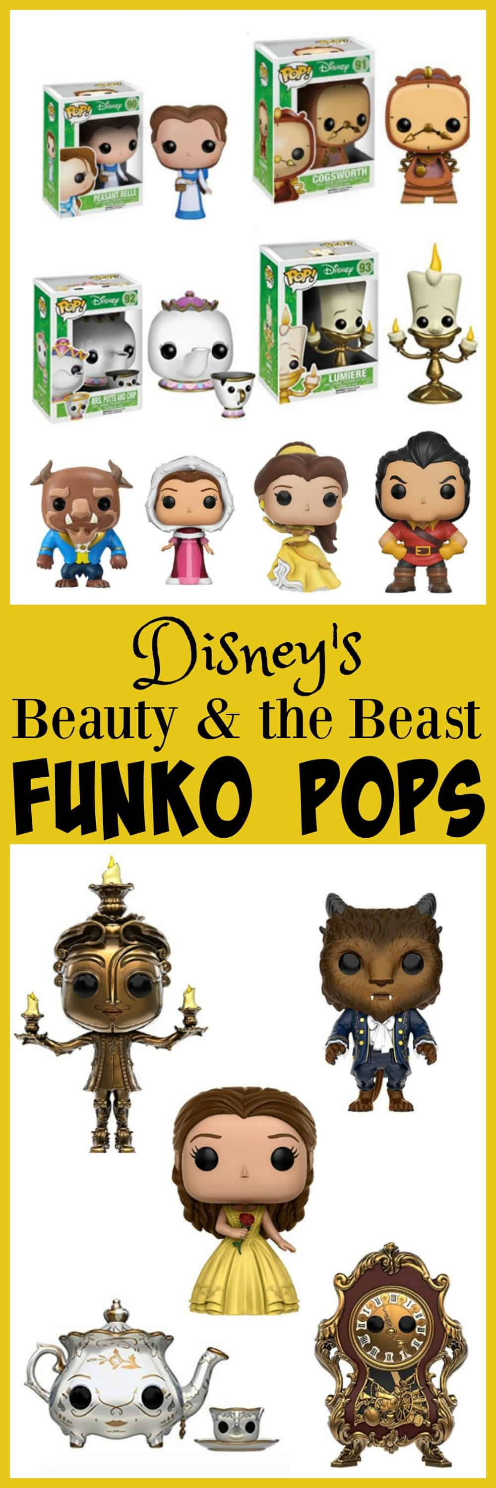 Disney Beauty and the Beast Funko Pops Collectible toys