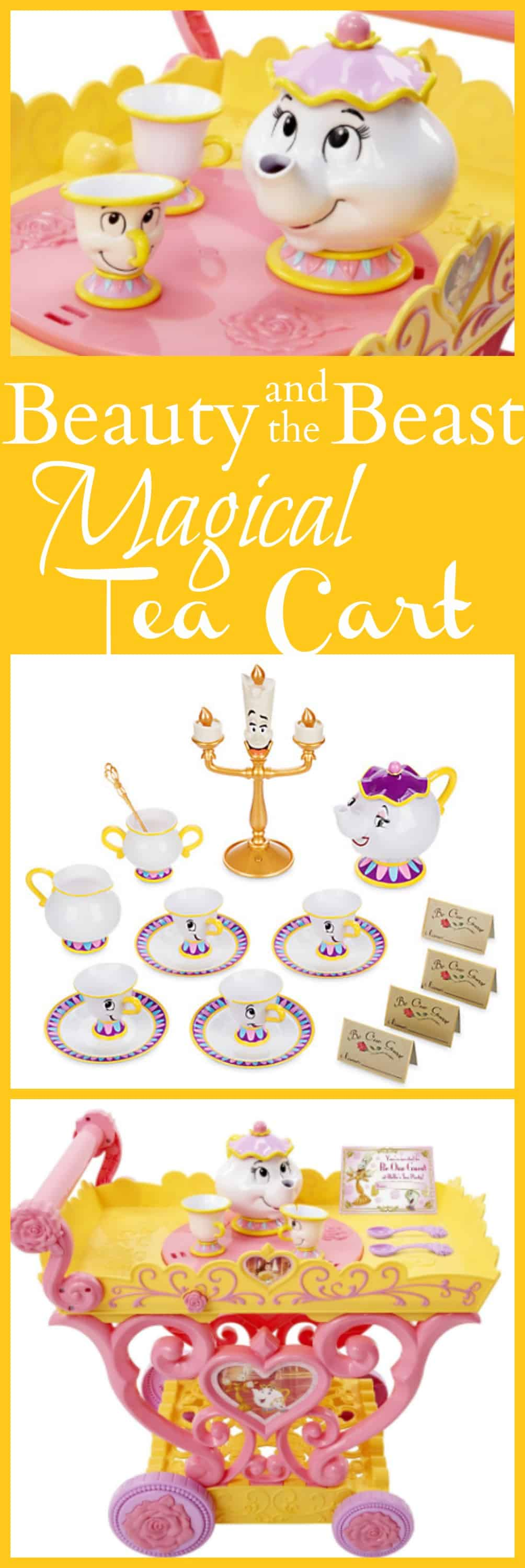 vDisney Beauty and the Beast Magical Tea Cart