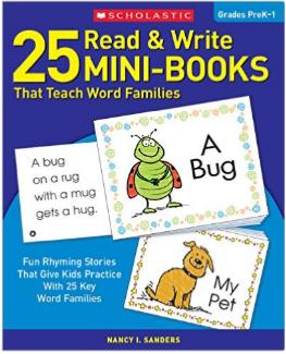 Scholastic 25 Mini Books Word Families